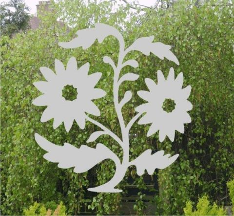Etched Glass Effect Flowers sticker